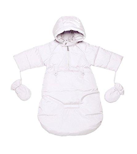 Oceankids Tuta da neve imbottita avvolgente, bianco da bambino / neonato 9-12 Mesi