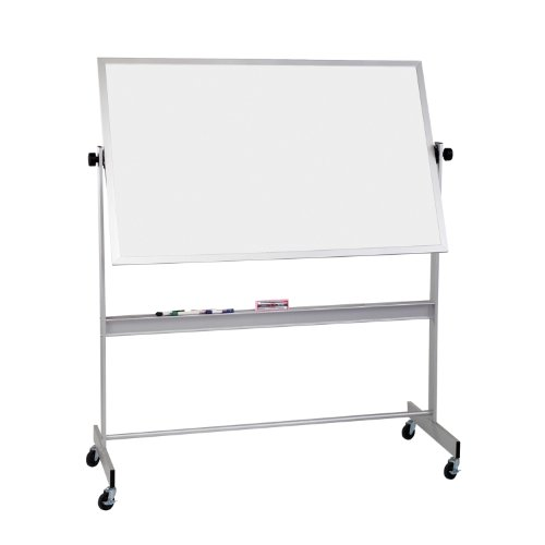 MooreCo inc Deluxe Reversible, Dura-Rite Markerboard, Both Sides Aluminum Trim, 4 x 6 Inches (668AG-HH)