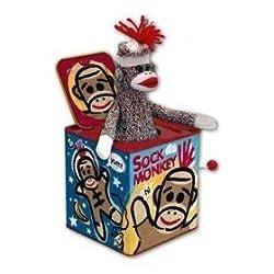 SOCK MONKEY JACK IN THE BOX BY SCHYLLING