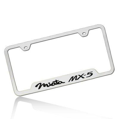 Mazda Miata MX-5 Polished Steel License Plate Frame (Miata License Plate Frame compare prices)