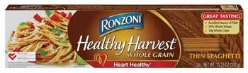 Ronzoni Healthy Harvest Whole Grain Thin Spaghetti Pasta 13.25 oz