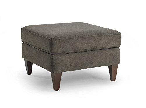 Homeware Parker Ottoman, Carbon, 26.75 by 26.75 by 17.5-Inch