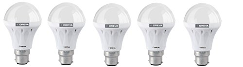 6W ECO LED Bulb (Cool Day Light , pack of 5)