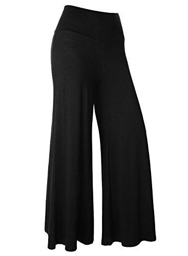 BAISHENGGT Pantaloni dritti Yoga Pants baggy - Donna Nero Small