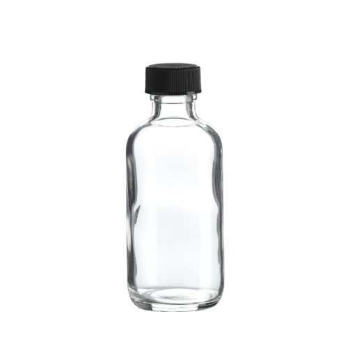 Premium Vials B27-12 Boston Round Glass Bottle with Cap, 4 oz Capacity, Clear (Pack of 12) (4 Ounce Glass Bottles compare prices)