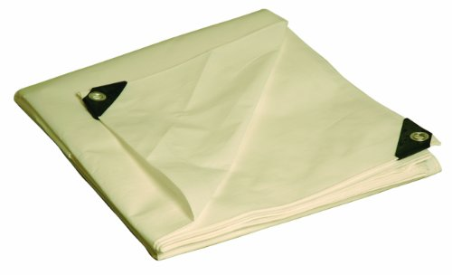 Discover Bargain 8' x 10' Dry Top Heavy Duty White Full Size 10-mil Poly Tarp item #308105
