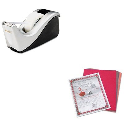KITMMMC60STPAC103637 - Value Kit - Scotch Value Desktop Tape Dispenser (MMMC60ST) and Pacon Riverside Construction Paper (PAC103637) kitmmmc214pnkunv10200 value kit scotch expressions magic tape mmmc214pnk and universal small binder clips unv10200