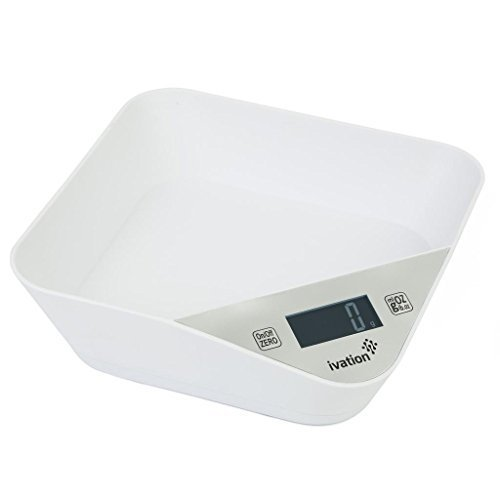 Ivation™ Lightweight Kitchen Bowl w/Digital Scale - Turquoise Blue by Ivation