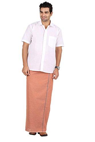 Prakasam-Cotton-Mens-Dhoti-2-Meters-Wide-Orange-Kavi