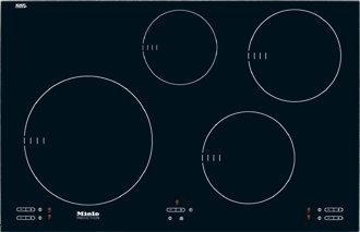 Miele : KM5753 30 Touch Control Induction Cooktop - Black