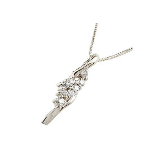 [アトラス] Atrus 花束 ブーケ プラチナネックレス ダイヤモンド プラチナ900 ネックレス プラチナ850 ダイヤ 0.08ct ペンダント レディース 4月誕生石