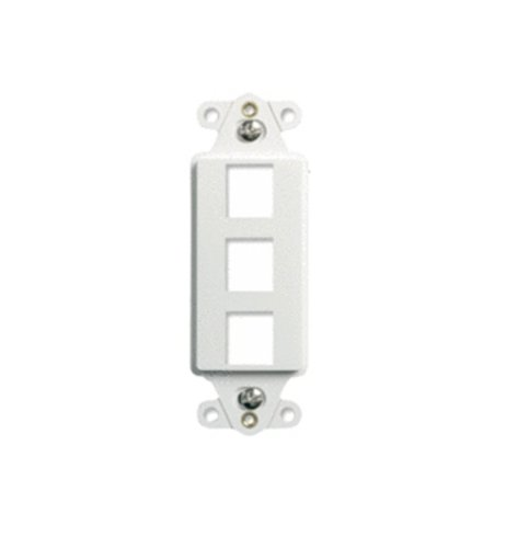 Onq / Legrand Wp3413Wh 3Port Decorator Outlet Strap, White