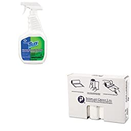 KITCOX35604EAIBSS334016N - Value Kit - Clorox Soap Scum Remover and Disinfectant (COX35604EA) and IBS S334016N High Density Interleaved Commercial Coreless Roll Can Liners, Natural (IBSS334016N)