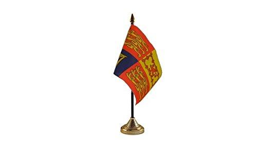 Confezione da 12 Regno Unito United Kingdom Royal Standard Desktop centrotavola Flag bandiera in oro con supporti ideali per feste da conferenze in ufficio
