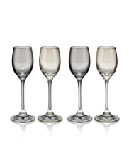 4 Lustre Liquor Glasses Set