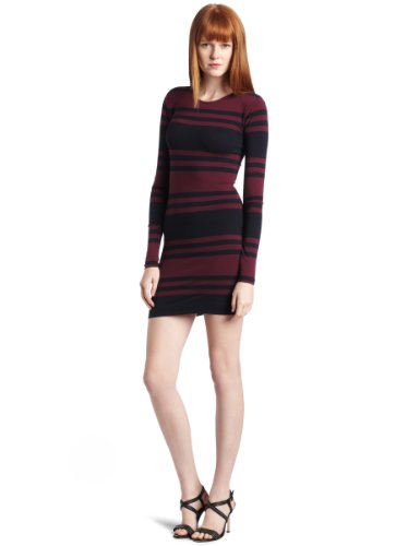 French Connection Women's Jag Stripe Long Sleeve Dress