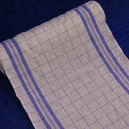 Blue Windowpane Linen Tea Toweling