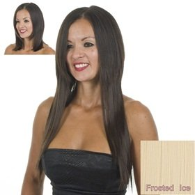 ExceLength Frosted Ice Light Blonde 18 inch Full Head Straight Clip Hair Extensions
