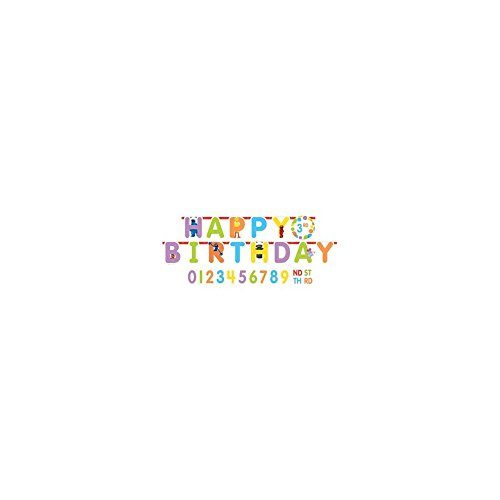 Amscan Sesame Street Jumbo Birthday Add a Number Banner, Multicolor