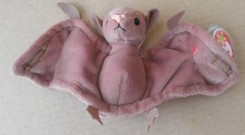 TY Beanie Babies Batty the Bat Stuffed Animal Plush Toy - 4 1/2 inches tall - Brown by Smartbuy - 1