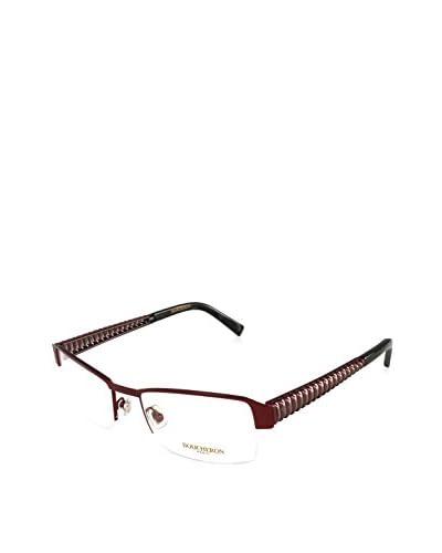 Boucheron Women's Beo124 Eyeglasses, Cardinal Red/Ruthenium