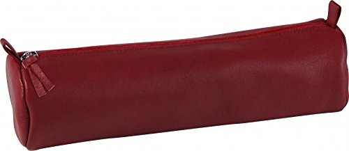 clairefontaine-trousse-ronde-cuir-teinte-oe55x22-cm-rouge-8308c