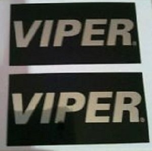 (2) VIPER Warning Stickers. Car Alarm Security System Decals