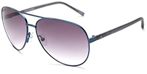 Converse Backstage Opening Band Aviator Sunglasses,Blue Frame/Grey Gradient Lens,One Size