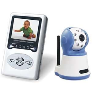Latest Technologhy 2010 Interference Free Digital Wireless Handheld Color Video Baby Monitor. front-66414