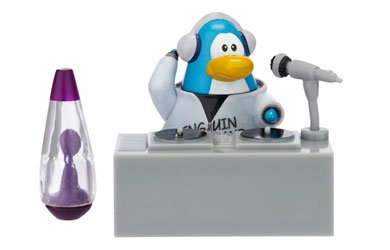 Buy Low Price Jakks Pacific Disney Club Penguin Series 2 Mix 'N Match Mini Figure Pack Band Member with Turntable (Includes Coin with Code!) (B001VH58U8)