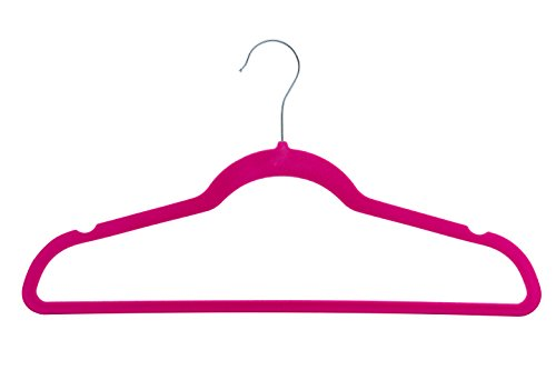 Cheapest Price! Home-it 50 Pack Clothes Hangers Hot Pink Velvet Hangers Clothes Hanger Ultra Thin No...