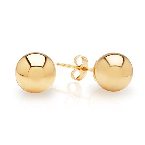 14K Yellow Gold Ball Stud Earrings 4mm