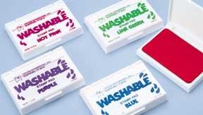 Set Of 6 Standard Washable Stamp Pads
