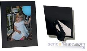 "Collectors Gallery Sturdy Easel Cardboard Frame for a 4x6"" Photograph, Black (6 Pack)"