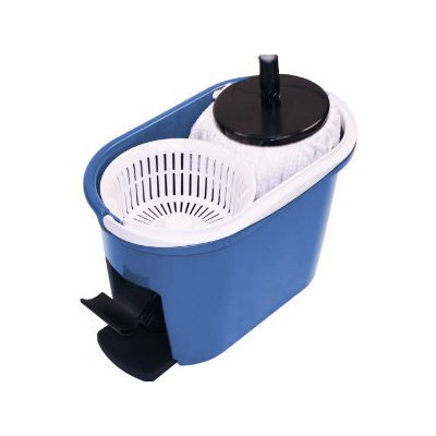 360 Degree Spin Mop & Spin Dry Bucket - In Green and Blue Color (2 Mop Heads)