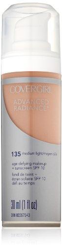 CoverGirl Advanced Radiance Liquid Makeup, Medium Light 135, 1.0-Ounce