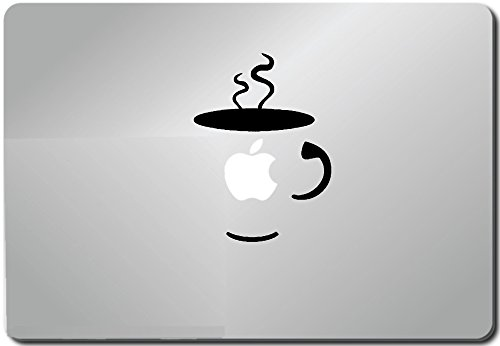 Coffee Cup-apple Macbook Ipad Laptop Vinyl Decal Sticker Skin Cover Computer Sticker Computer Decal Decal Mac Decal for Mac Laptop Sticker Laptop Decal Newest Version Macbook Pro Laptop Quotes