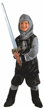 Child's Black Knight Costume (Size:Medium 8-10)