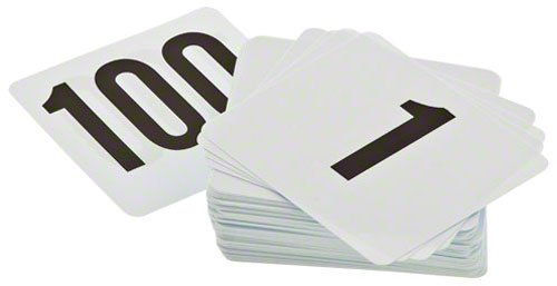 Update International Ptn4/1-100 1-100 Plastic Table Numbers, 4 By 4-Inch
