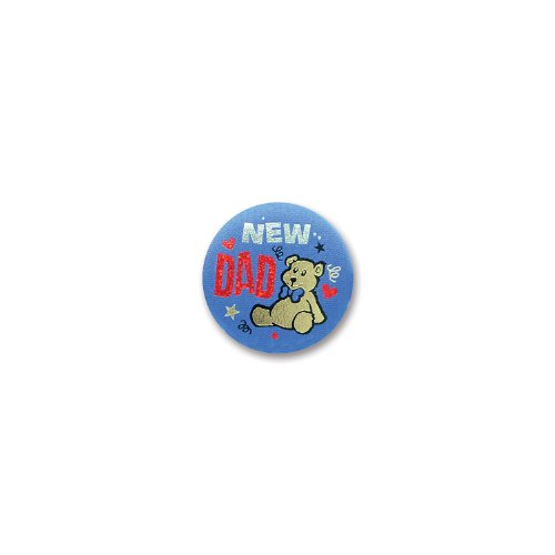 "New Dad Satin Button 2"" Party Accessory - 1"