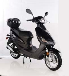 TaoTao CY50-T3 BLACK 49cc Gas Automatic Scooter Moped w/ 12 Inch Steel