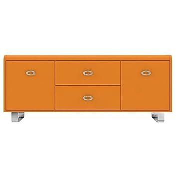 GIPSY Meuble TV vintage orange - L 153 cm