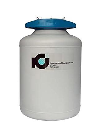 International Cryogenics LN2 Liquid Nitrogen Refrigerator, 38L, 6 Canisters
