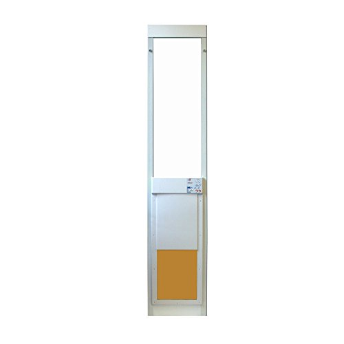 Large Power Pet Sliding Glass Dog Door Extra Tall (Sliding Glass Pet Door Insert compare prices)