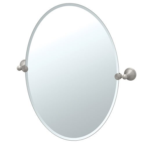 Gatco Laurel Ave Tilting Beveled Oval Wall Mirror 4599 front-636174