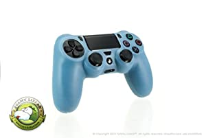 Playstation 4 Controller Skin by Foamy Lizard (TM) ChameleonSkin (Individual) Premium Protective Anti-slip Silicone Grip Case Cover For Wireless PS4 Controller (Arctic - Translucent Blue)