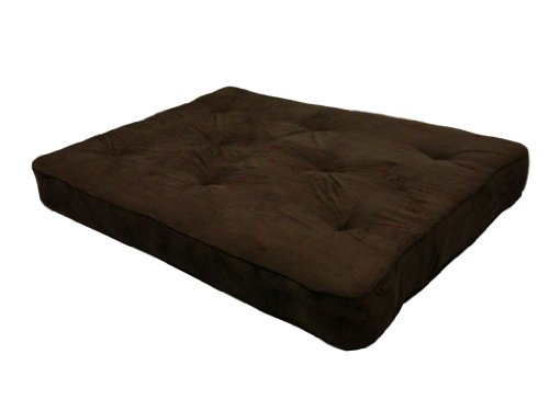 New DHP 8-Inch Independently-Encased Coil Premium Futon Mattress, Full Size, Chocolate Brown