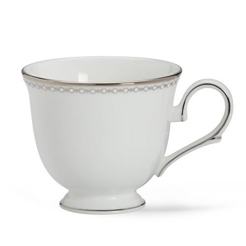 Lenox 6111231 Pearl Platinum Footed Tea Cup In White / Platinum