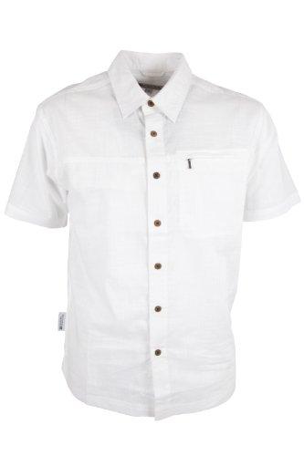 Mountain Warehouse Camicia da viaggio a maniche corte per uomo Coconut Bianco Large
