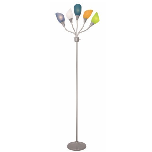 Home design medusa silver floor lamp with multicolor for Kids room floor lamp